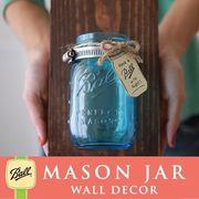 壁掛け メイソンジャー 1連 Ball Mason jar ブルー