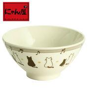 「にゃん屋」★親子猫飯碗(1個箱入り)