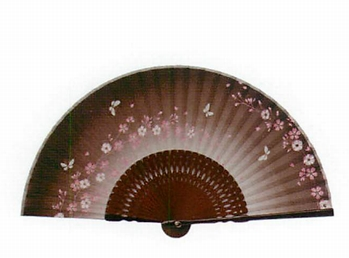 【ご紹介します!暑い夏の必須アイテム!爽やかな風を運んでくれる!綿扇子 茶地小桜(121073)】
