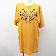 20/-天竺 花柄刺繍 Big-Tシャツ