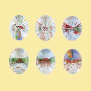 クリスタル箸置き(そら豆)京都シリーズ  【ガラスの箸置き】