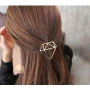 ヘアピン ヘアアクセサリー 髪飾り U字ピン ダイアモンド 月 三角 円形 1個