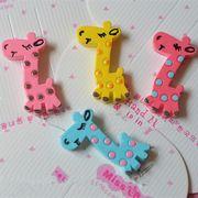 DIYデコレーション 可愛いキリン 人気動物DIYパーツ動物パーツ デコパーツ手芸クラフト生地材料全4色