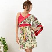 0678セクシーワンショル花魁着物ドレス 和柄 衣装 ダンス よさこい 花魁 コスプレ キャバドレス
