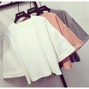 ★レディースファッション★レディーストップス★Tシャツ 三色あり