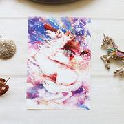 ポストカード ねこ「空を駆けるネコレオン」