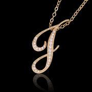 aネックレス≪J≫ K18 コーティング イニシャルネックレス   ゴールド ホワイトゴールド ピンクゴールド
