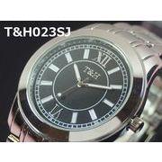 T&Hメンズ腕時計 メタルウォッチ 日本製ムーブメント ビッグフェイス