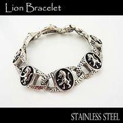 ステンレス ブレスレット メンズ レディース ライオン 7連 ブレス 腕輪 シルバー アクセサリー