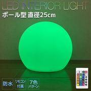 防水型インテリアライト ボール形 25cm
