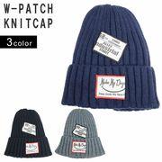 帽子 ニット帽 メンズ レディース リブニット タグ ワッペン ニットキャップ ワッチ キーズ Keys