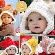 ★同梱でお買得★新作★耳帽子★ベビー帽子★可愛い★かっこいい★5色