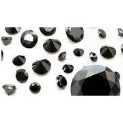 ≪特価品≫天然石 ブラックスピネル(Black spinel) ラウンドファセットカット 1mm-3mm