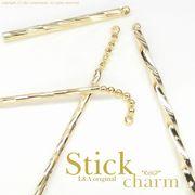 """★本ロジウム新入荷★L&A Original Parts★K16GP★美しきゴールド★スティック♪173 """"Gold Stick"""""""
