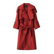 Rinaシリーズ 6 秋 新しいデザイン 女性服 韓国風 気質 ラペル ダブルブレスト