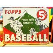アメリカンブリキ看板 TOPPS 1955 ベースボール
