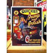 アメリカンブリキ看板 QUICKIES 給油と洗車