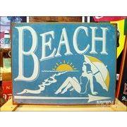 アメリカンブリキ看板 Sign Art BEACH