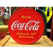 アメリカンブリキ看板 コカ・コーラ ボタン型ロゴ