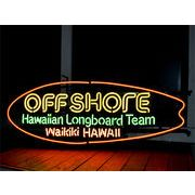 ネオンサイン【OFF SHORE BOARD HAWAII】オフショア ボード ハワイ
