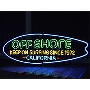 ネオンサイン【OFF SHORE BOARD CALIFORNIA】オフショア ボード カリフォルニア