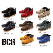 【BCR】 BC-601 レースアップ カジュアル ブーツ 全8色 メンズ