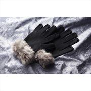 エレガノ ファーグローブ /手袋 ファッション グローブ あったか