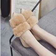 ★2017冬新作★レディース ふわふわ 靴 もこもこ ファー ブーツ ファッション