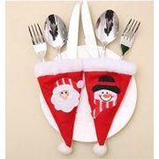 【クリスマス特集!】★サンタオーナメント★デコレーション★食器を飾る袋★帽子形