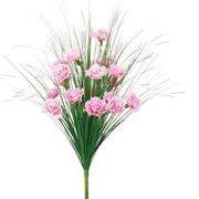 ポピー 造花 仏花 グラスカーネーションブッシュ 全長48cm・花径5cm ピンク