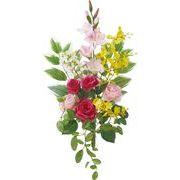 ポピー 造花 仏花 ローズブッシュ 全長55cm・幅33cm ミックス