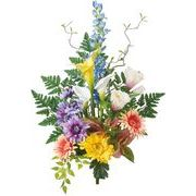 ポピー 造花 仏花 カラーリリーブッシュ 全長60cm・幅39cm ミックス