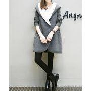 【大きいサイズXL-5XL】【秋冬新作】ファッションコート♪グレー/アンズ2色展開◆
