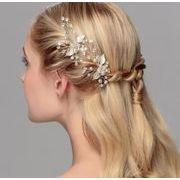 おしゃれ真珠パール付きお花デザインアアクセサリー - ヘアピン ヘアアクセサリー ピン留め   全3色