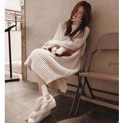 レディースワンピース  ニットワンピース  セーター お洒落 タートルネック 通勤 通学人気 韓国風