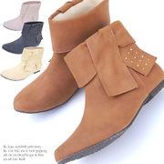 【2B】訳あり!! 在庫処分!! フラット ヒール 1.0cm ブーティ ショート ブーツ SC-7723