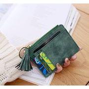 【雑貨】 タッセル付き ファスナー付き小銭入れ カード収納ケース  ミニ財布