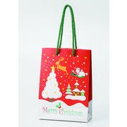 クリスマスペーパーバッグ(小) /クリスマス ペーパーバッグ 店舗 包装資材 イベント