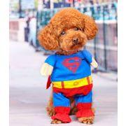 可愛い犬服 変身 ペット用品 コスプレペット服 ハロウィン スーパードッグ