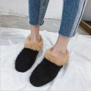 2017秋冬★レディースファッション 靴 ブーツ ショートブーツ ファー モコモコ ポインンテッドトゥ