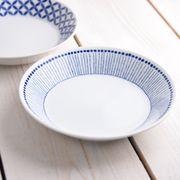 ブルーパターン 20.5cmプレート ヒナタ[美濃焼]