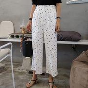 パンツ ゆったり ドット柄 水玉 カジュアル 韓国風 全2色 #29645