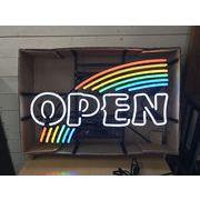 【在庫処分・新品】ネオンサイン・ネオン管・オープン・レインボー・OPEN RAINBOW・虹