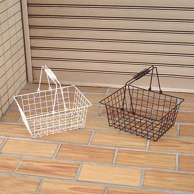店内カゴとしても人気なワイヤーバスケット【ワイヤーバスケット・M】