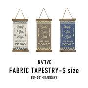 【お買い得】炙り加工が風合い抜群♪ネイティブ柄壁面装飾【ネイティブ・ファブリックタペストリー・S】
