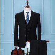 ハイエンド メンズファッション 5点セットスーツ 結婚式 披露宴 通勤 フォーマル スリーピーススーツ