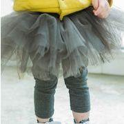 大人気 全4色★女の子 可愛い スカッツ★ボトムス レギンス付きスカート カジュアル キッズ 子供服