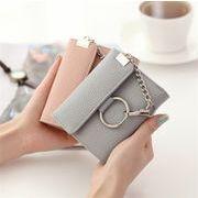 レディースファッション 財布 二つ折り 携帯ラクラク コンパクト チェーン付き オシャレ カワイイ