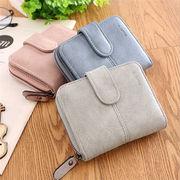 レディースファッション 財布 コインケース 持運びラクラク スエード コンパクト 6色