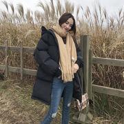 裏 小 冬 女性服 韓国風 ルース 手厚い 暖かい パンコート ロングスタイル コットン